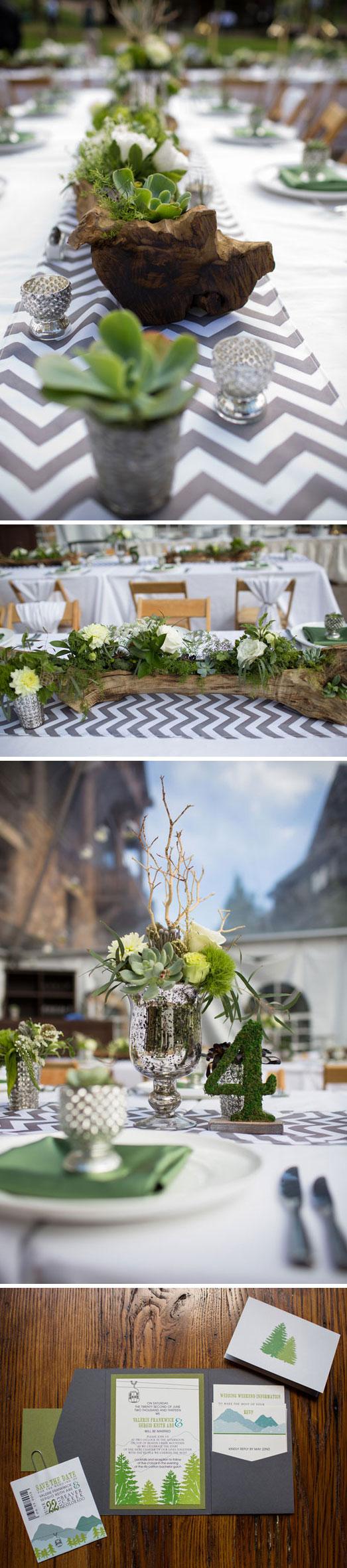 Natural & Woodsy Wedding
