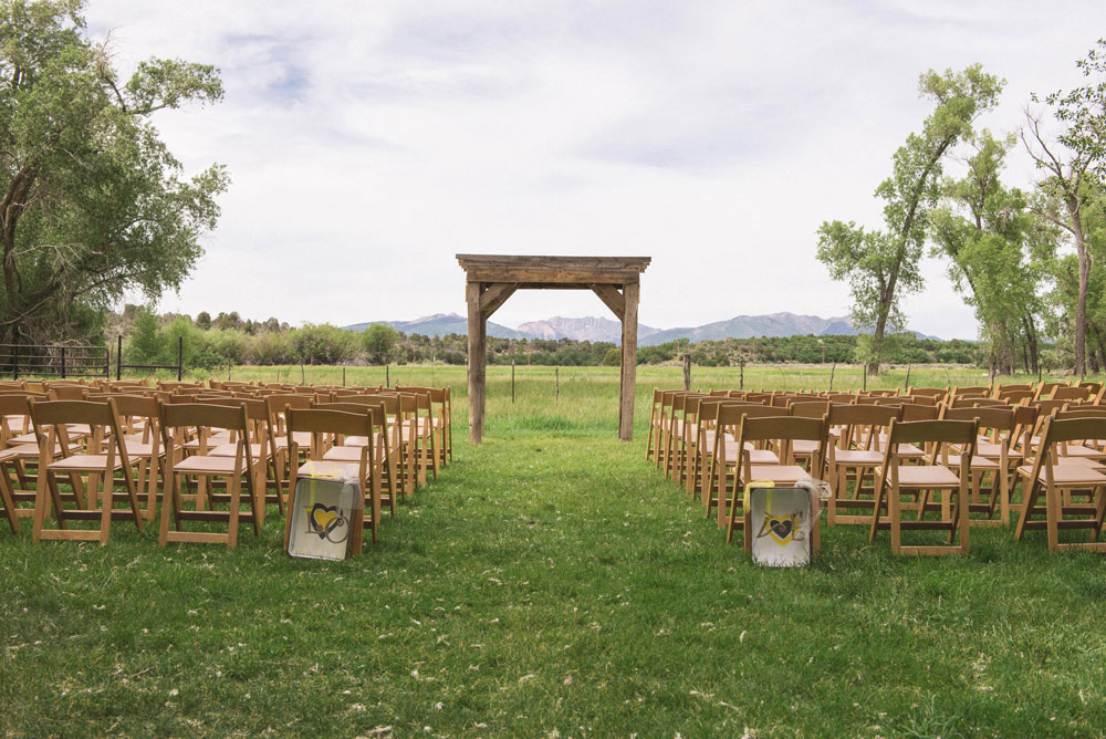 A simple, rustic wedding at Ridgewood Event Center, Durango CO