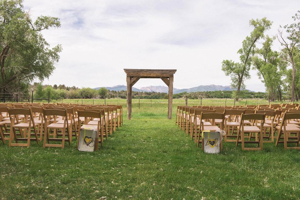 A simple, rustic wedding at Ridgewood Event Center, Durango CO