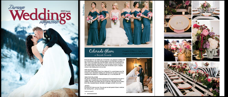 From the Magazine: A Colorado Glam Wedding at Keyah Grande, Pagosa Springs