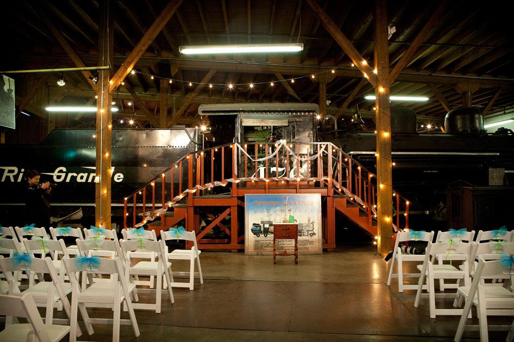 Train, engineer wedding in Durango