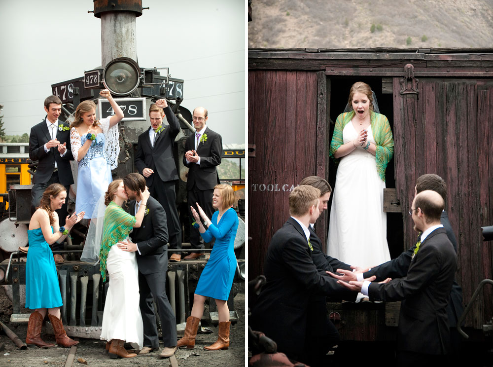 Train, engineer wedding in Durango