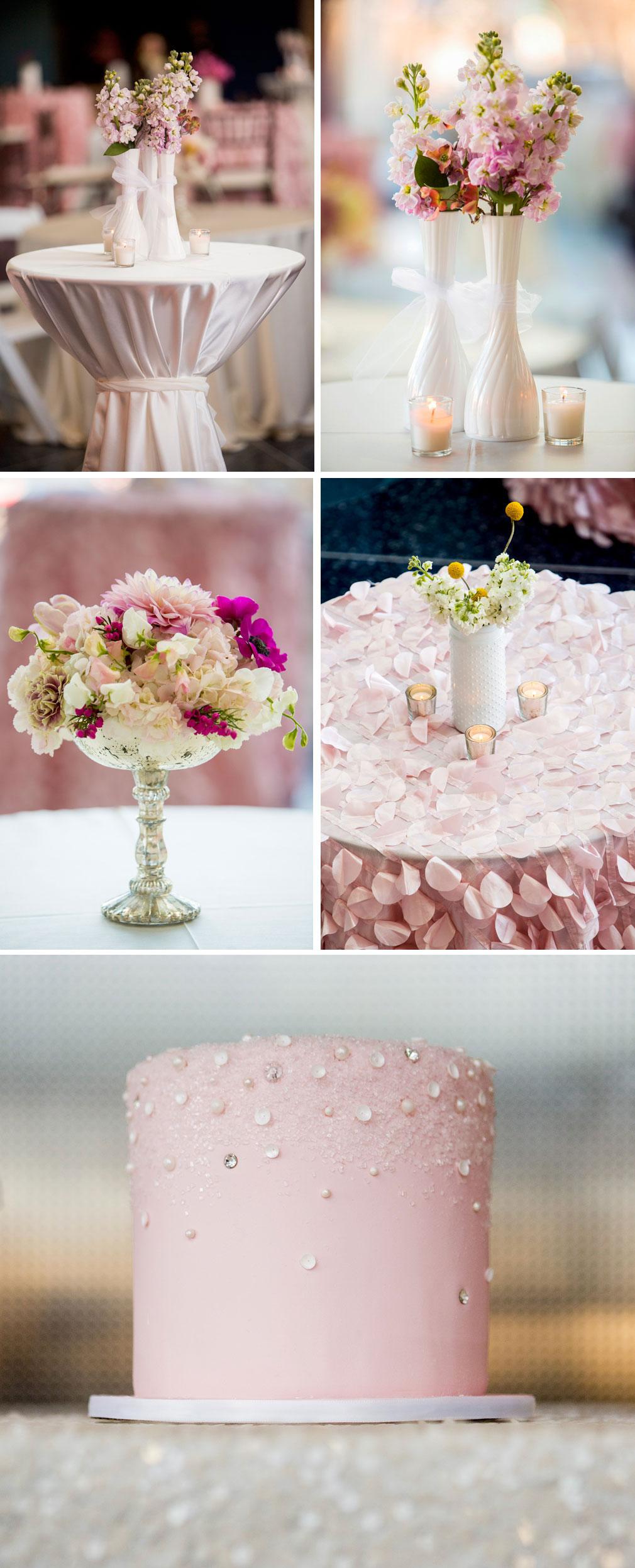 Pink wedding details, Durango Weddings Magazine