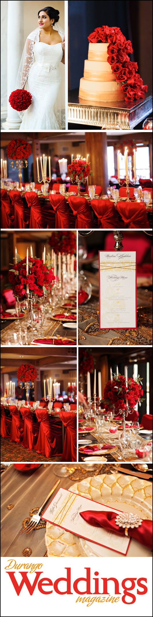 Wedding Style: Luxe Gold & Red