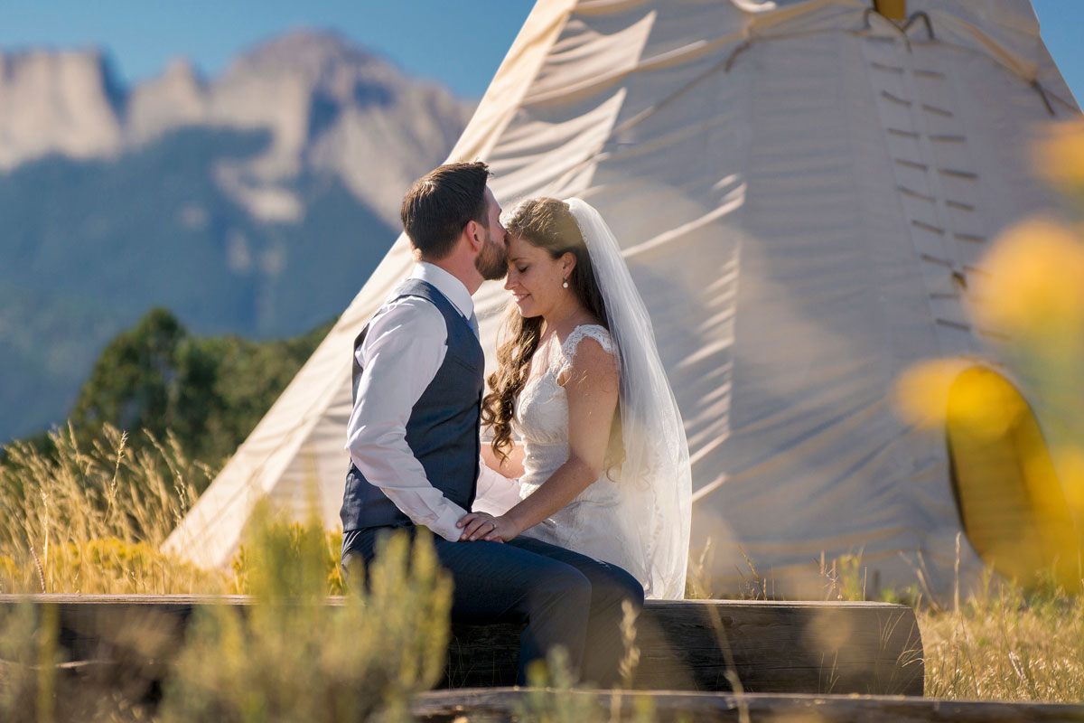 Southwest Colorado wedding - A Teepee Wedding in Ouray