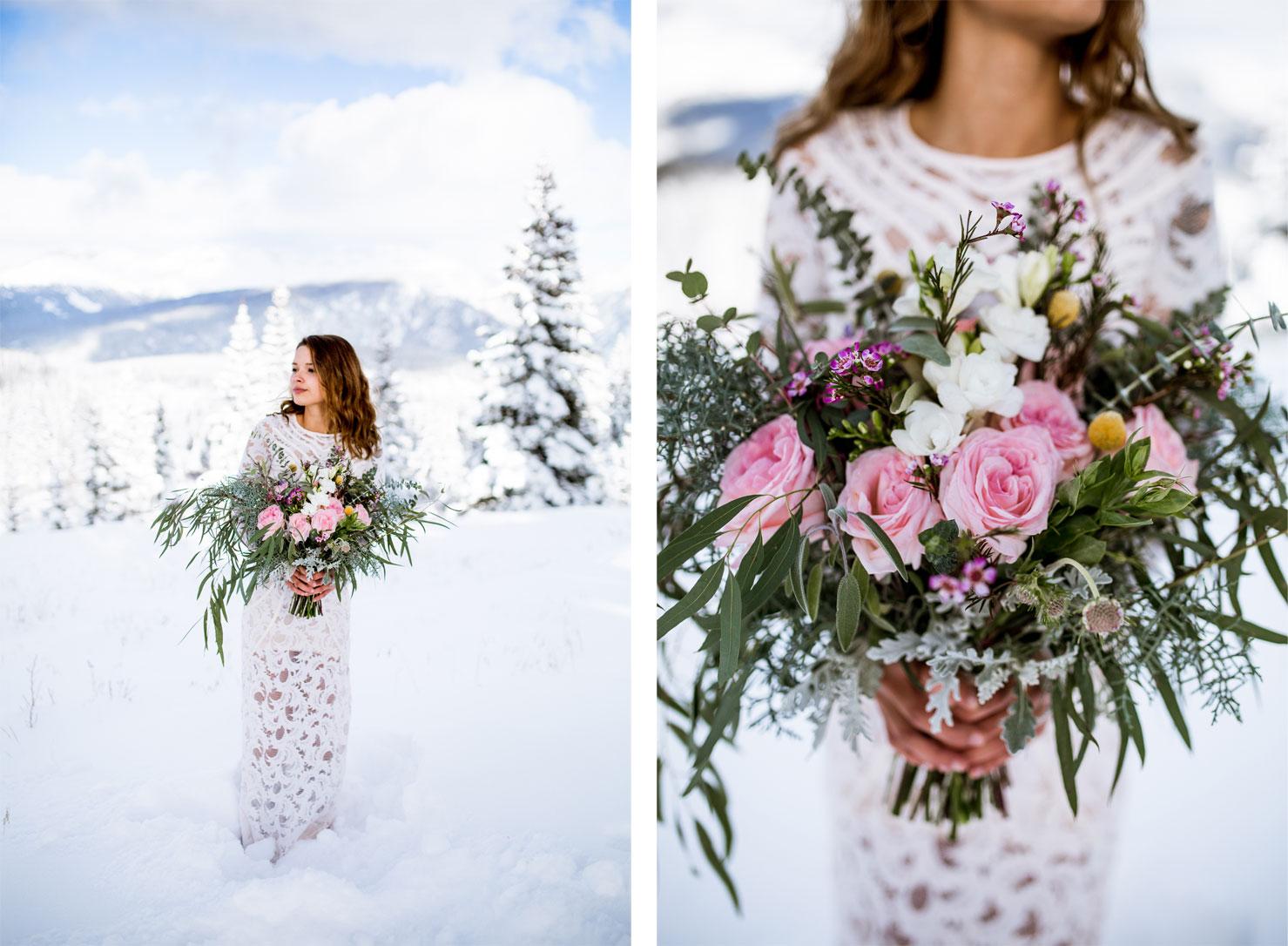 First Snow Wedding Shoot in Durango Colorado