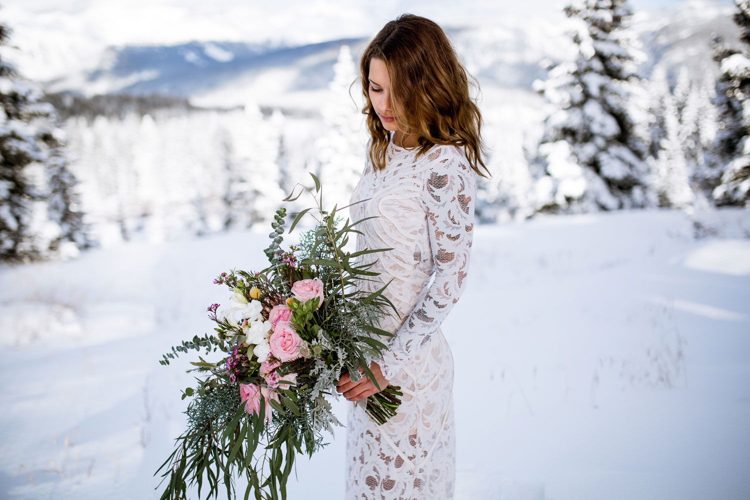 First Snow Wedding Shoot in Durango