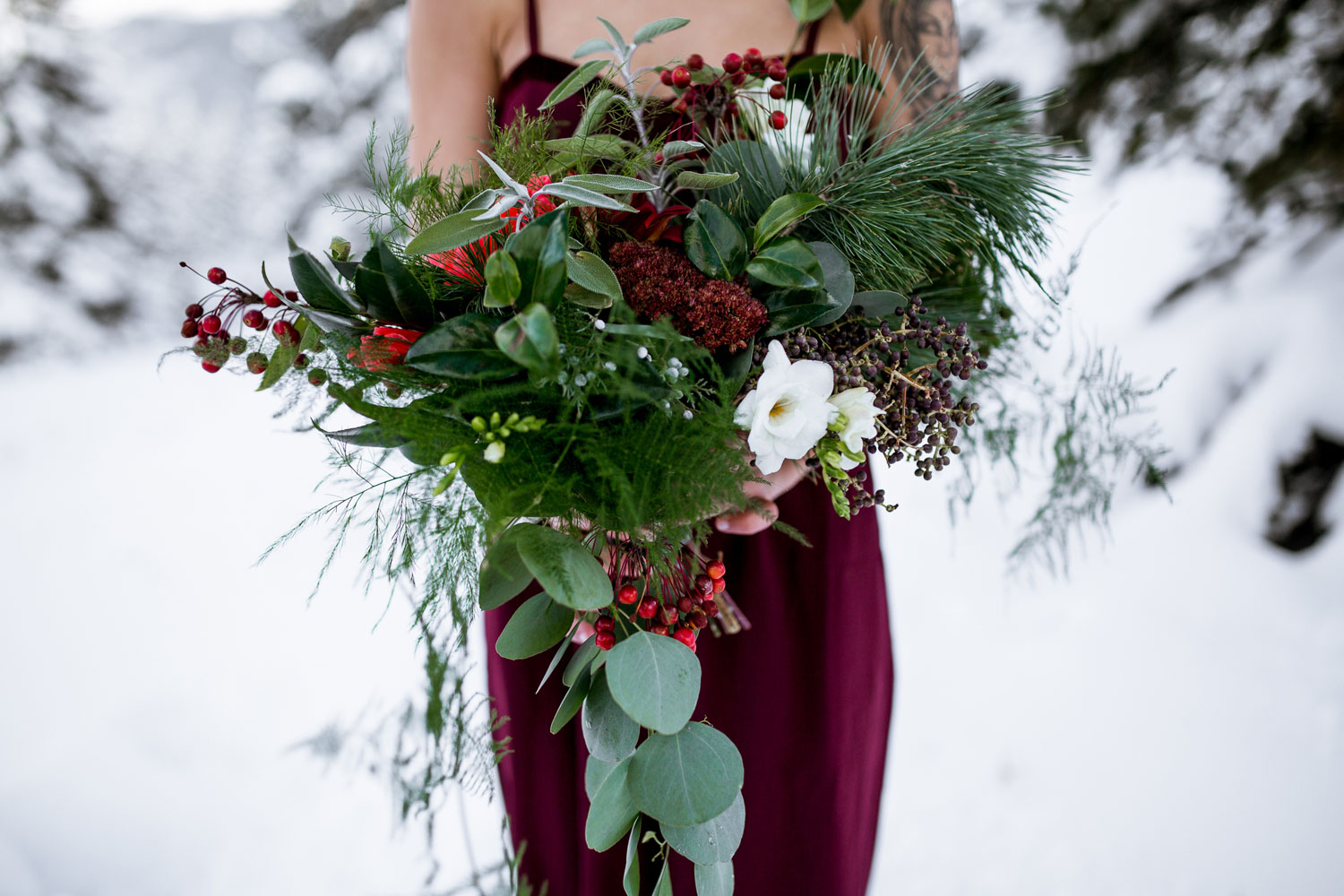 First Snow Wedding Shoot in Durango Colorado