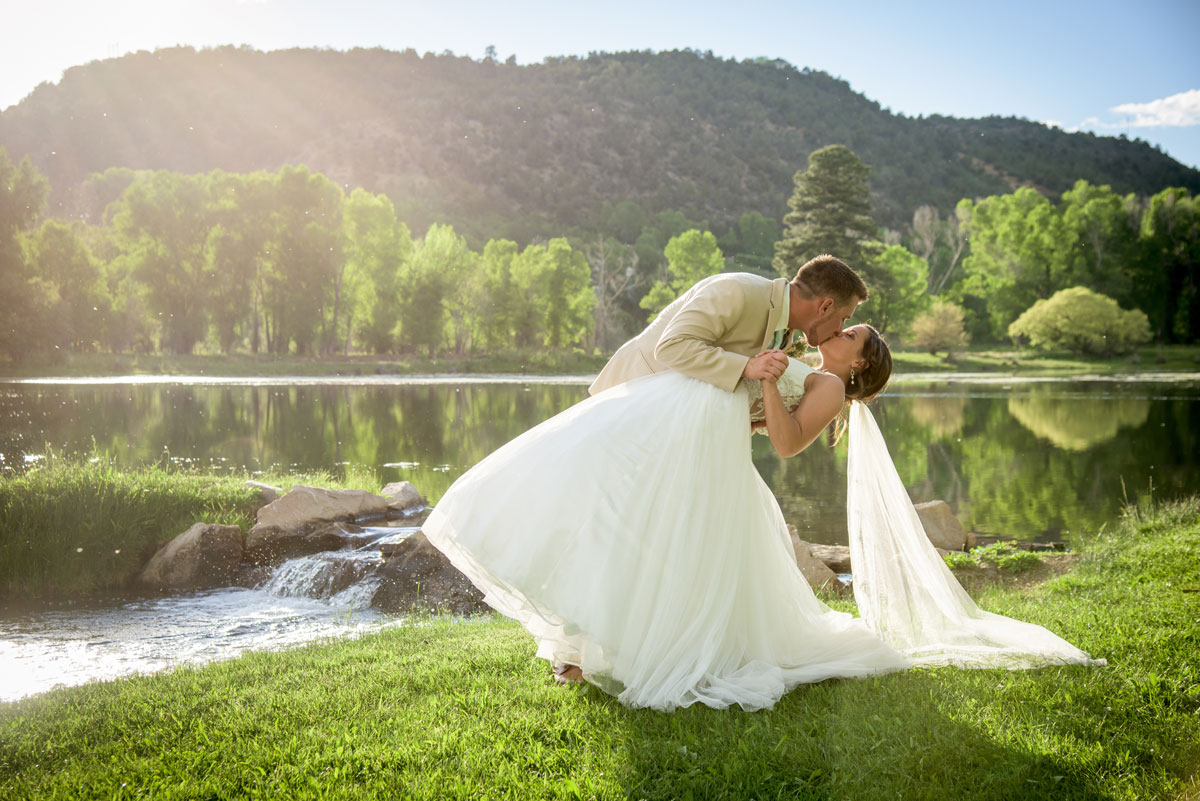 LePlatt's Pond wedding venue, Durango Colorado