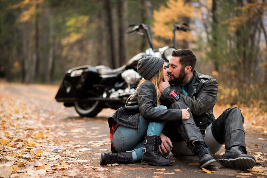 Fall Motorcycle Engagement Session0103