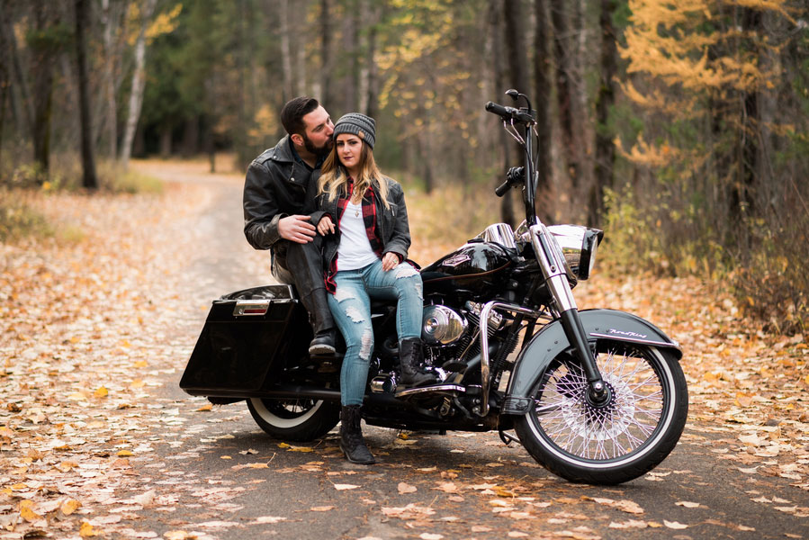 Fall Motorcycle Engagement Session0105