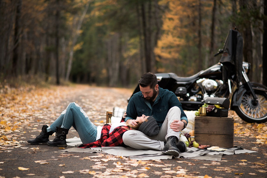 Fall Motorcycle Engagement Session0106