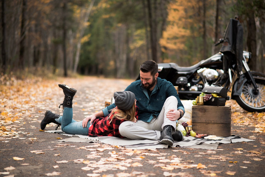 Fall Motorcycle Engagement Session0107