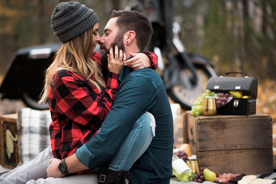 Fall Motorcycle Engagement Session0108