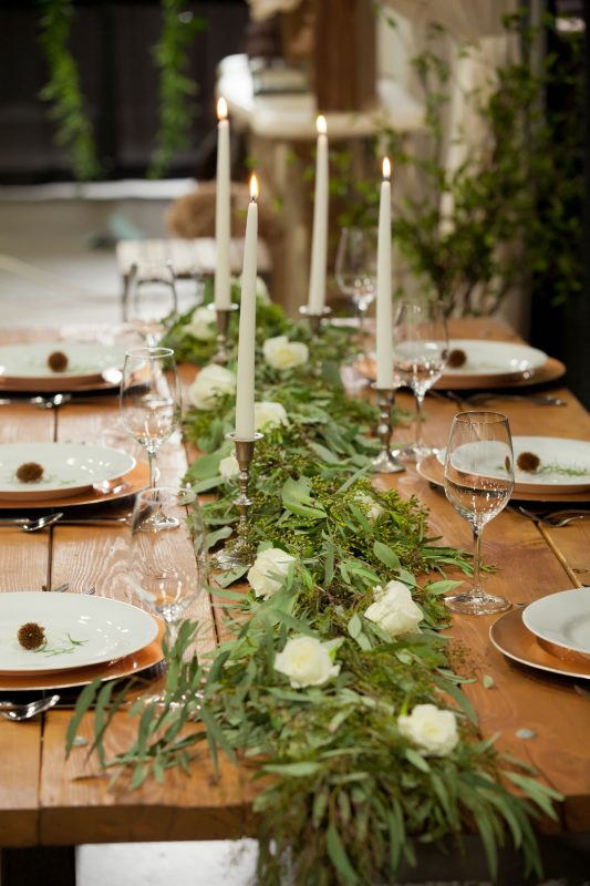 Tablescape by April's Garden at the Durango Wedding Expo, Durango CO