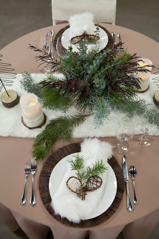 Ferns + Fur Tablescape at the Durango Wedding Expo, Durango CO