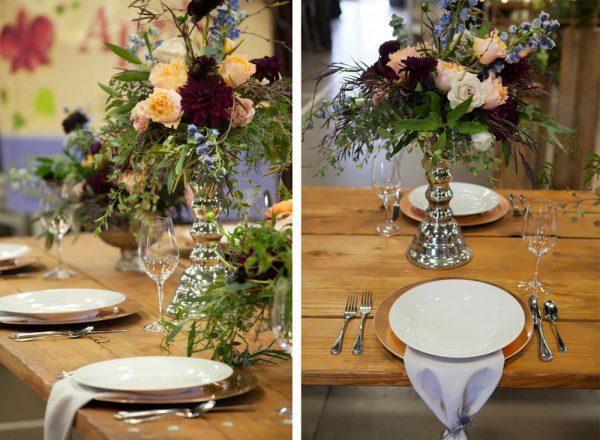 Tablescape by April's Garden at the Durango Wedding Expo, Durango CO