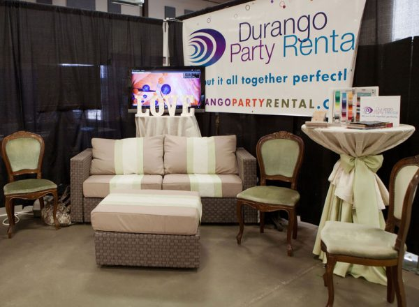 Durango Party Rental at the Durango Wedding Expo, Durango Colorado