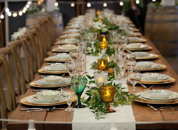 Tablescape by Durango Party Rental | Durango Wedding Expo, Durango Colorado