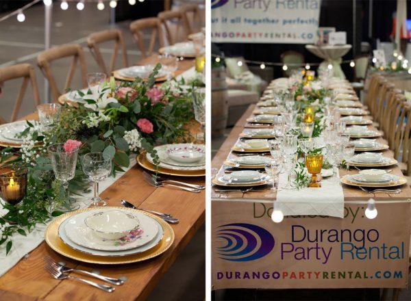 Tablescape by Durango Party Rental | Durango Wedding Expo, Durango Colorado