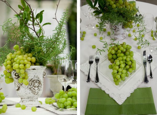 Rosemary & Grapes Tablescape | Durango Wedding Expo