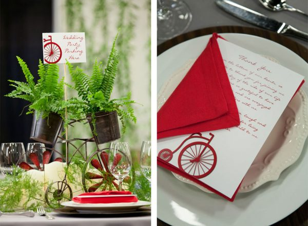 Bike theme tablescape | Durango Wedding Expo