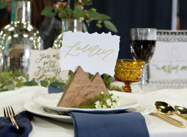 Tablescape at the 2017 Durango Wedding Expo