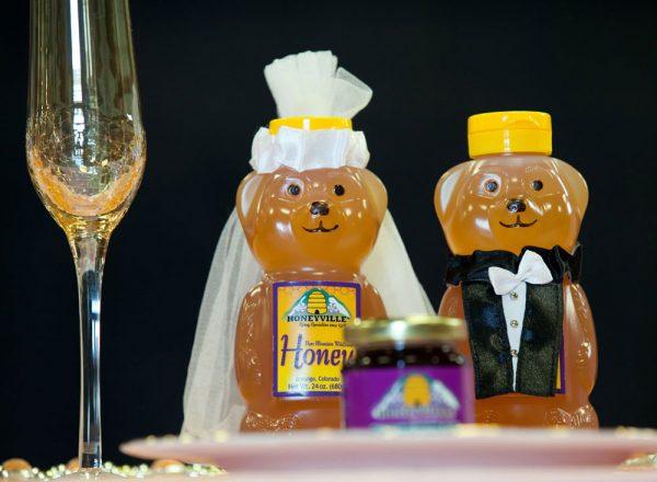 Honeyville favors at the Durango Wedding Expo