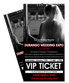Durango Wedding Expo VIP tickets