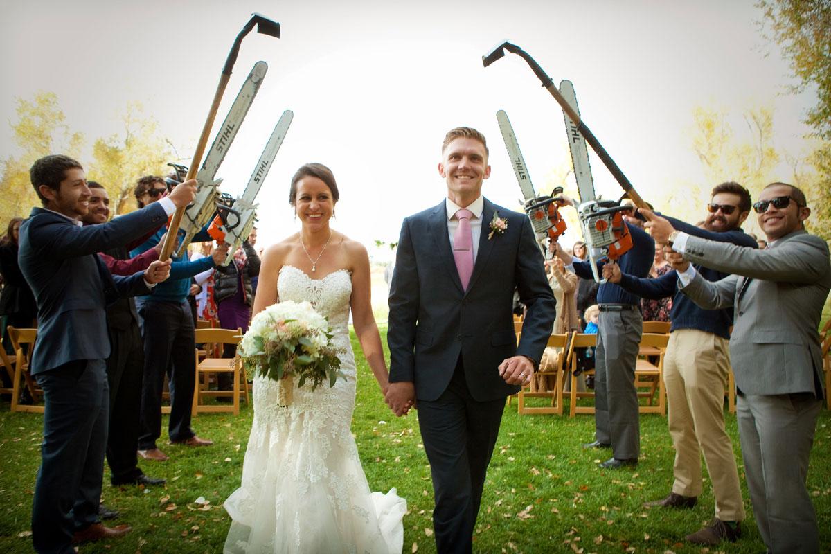 A Fall Wedding at Ridgewood Event Center, Durango, Colorado