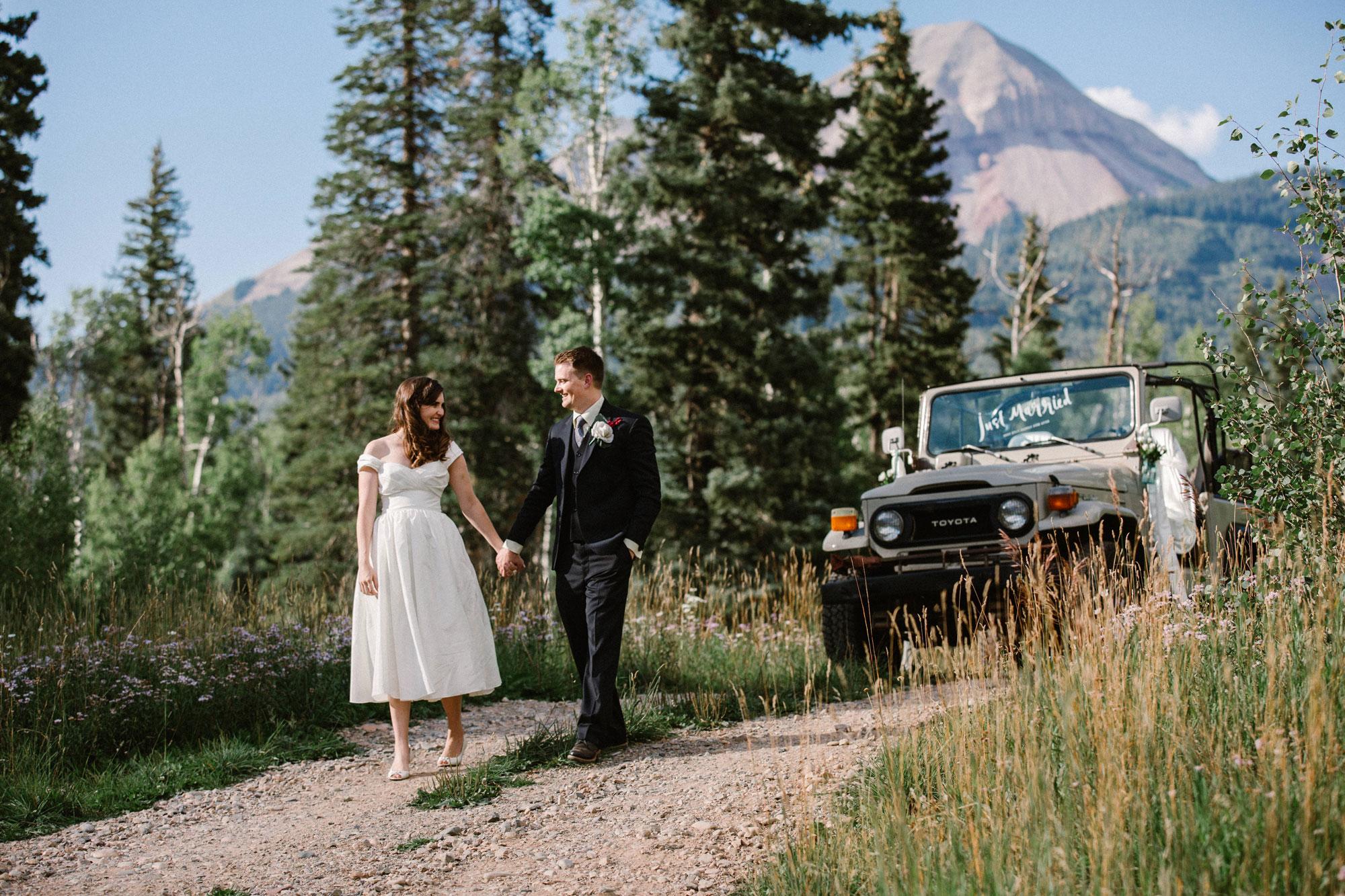 Happiness on Durango Mountain, Durango Colorado wedding