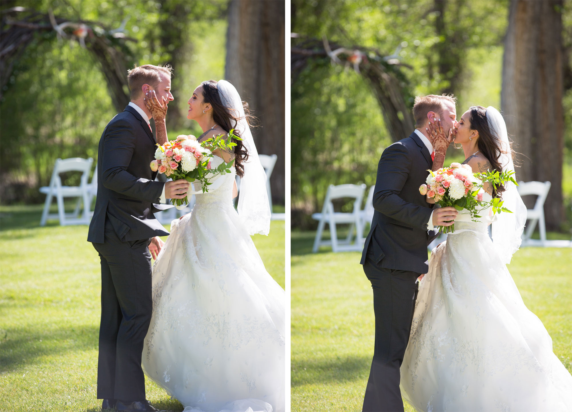 An intimate destination wedding at Antlers on the Creek B&B, Durango Colorado
