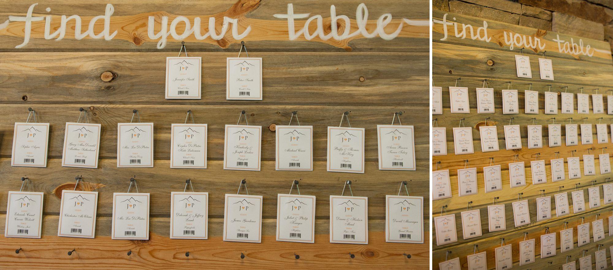 12 Handmade Seating Charts Durango Weddings Magazine