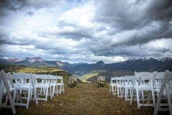 Mountaintop ceremony on Purgatory Resort, Durango. Colorado