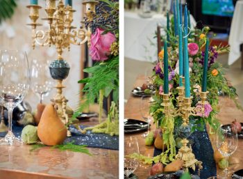 Tablescape designed by April's Garden | Durango Wedding Expo, Durango CO