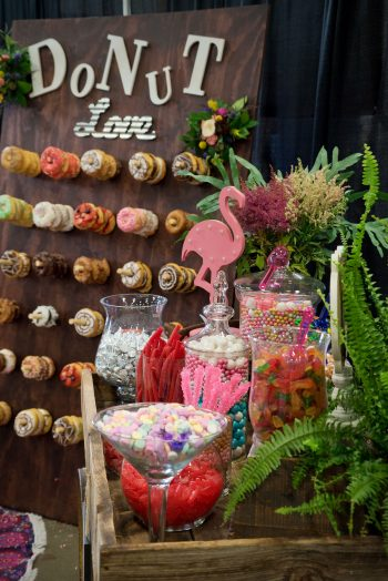 Donut wall & candy cart designed by April's Garden
