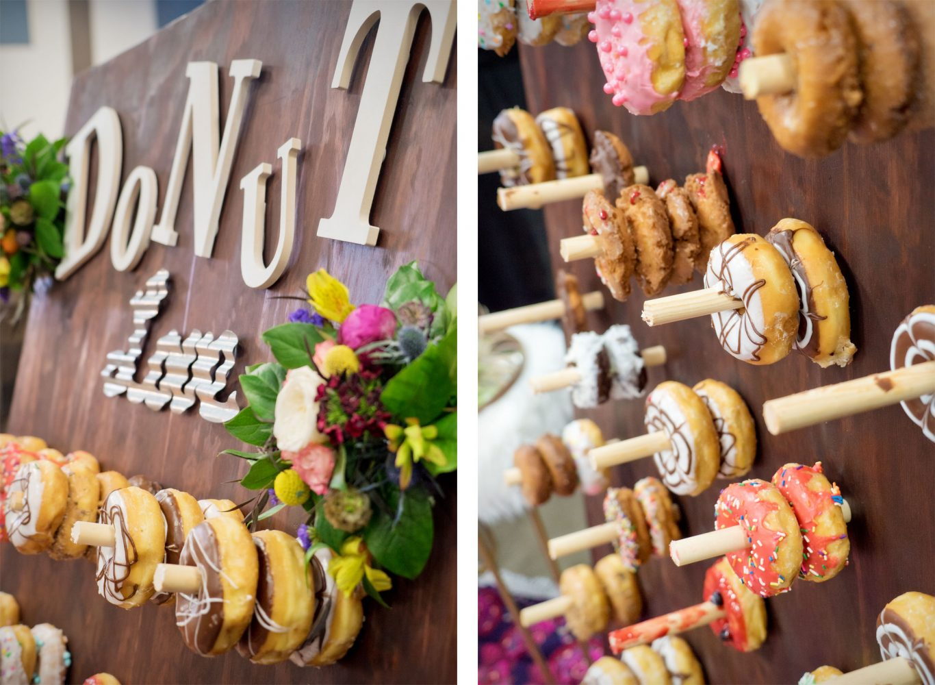 Donut wall by April's Garden at the annual Durango Wedding Expo