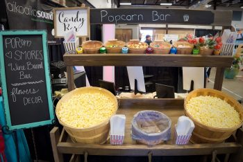 Popcorn bar from Ridgewood Event Center