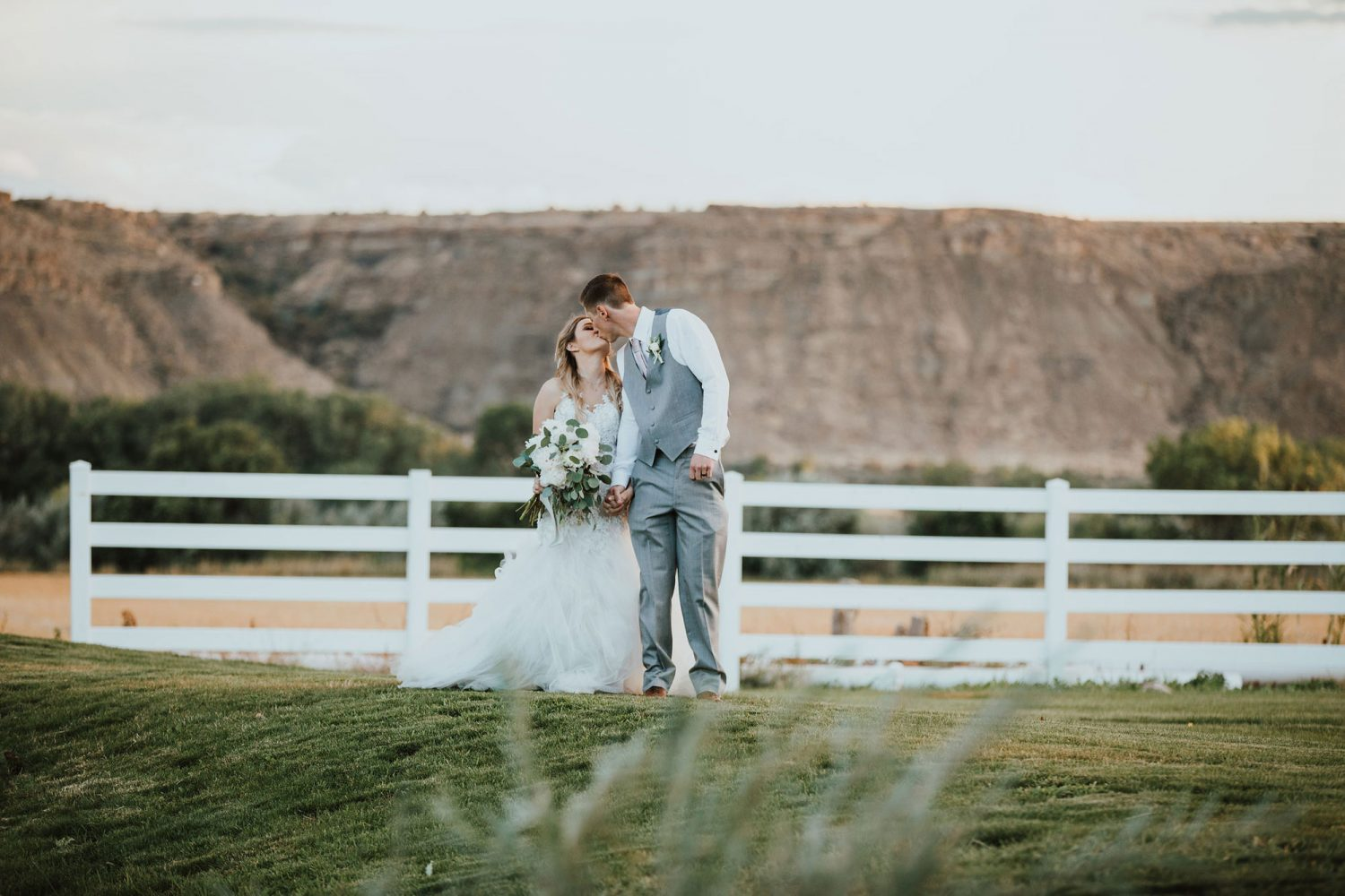 Wedding couple from a Rustic Glam Wedding at Triple J Ranch in Kirtland, New Mexico