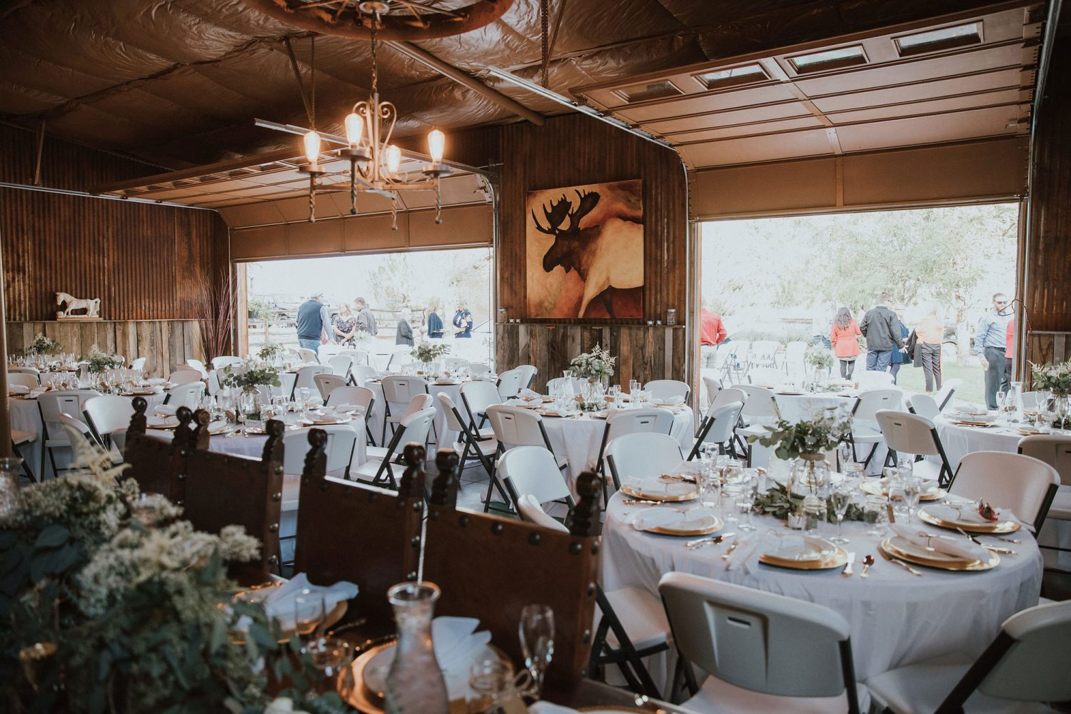 Barn venue from a Rustic Glam Wedding at Triple J Ranch in Kirtland, New Mexico