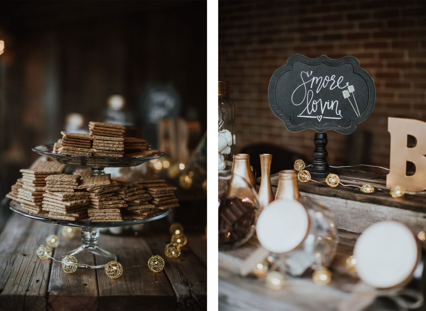 S'mores bar from a rustic ranch wedding in New Mexico