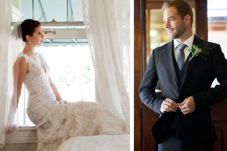 Bride and groom from a Durango, Colorado wedding