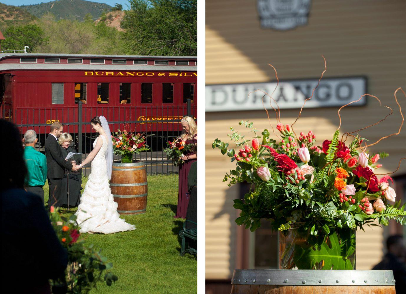 Ceremony at the Durango Train Depot, Durango, Colorado