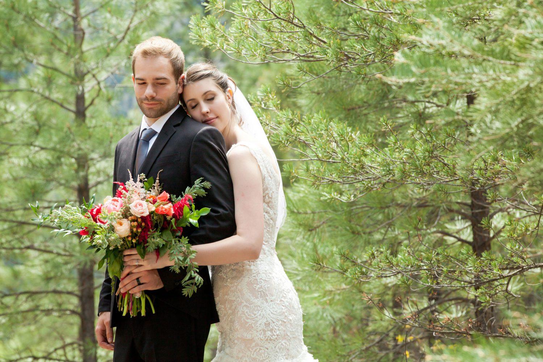 Durango Colorado wedding couple in the San Juan National forest