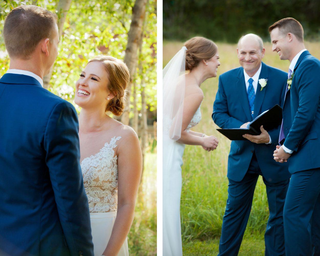 Getting married outdoors. A backyard wedding in Durango, Colorado