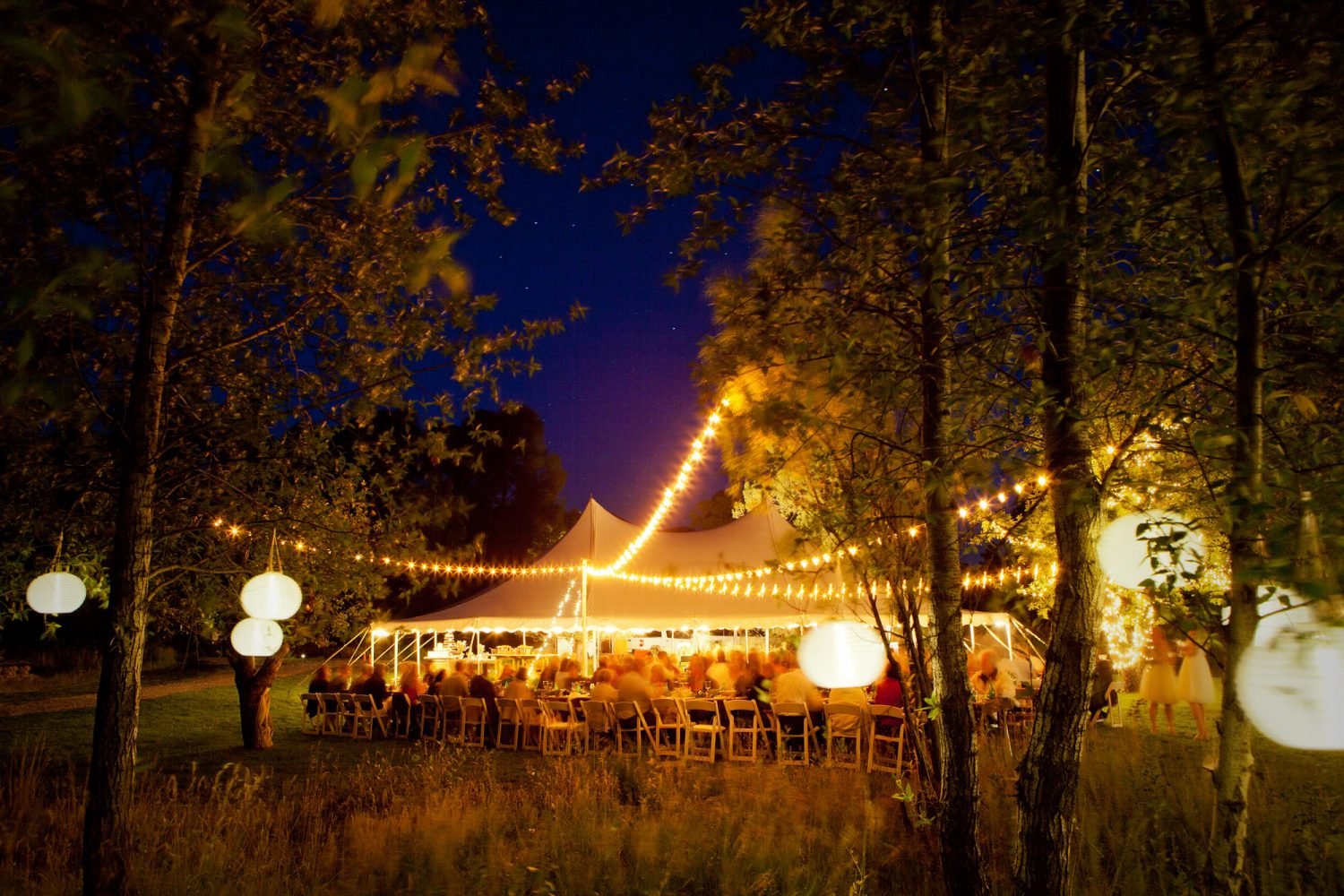 A tent wedding in the Animas Valley of Durango, Colorado
