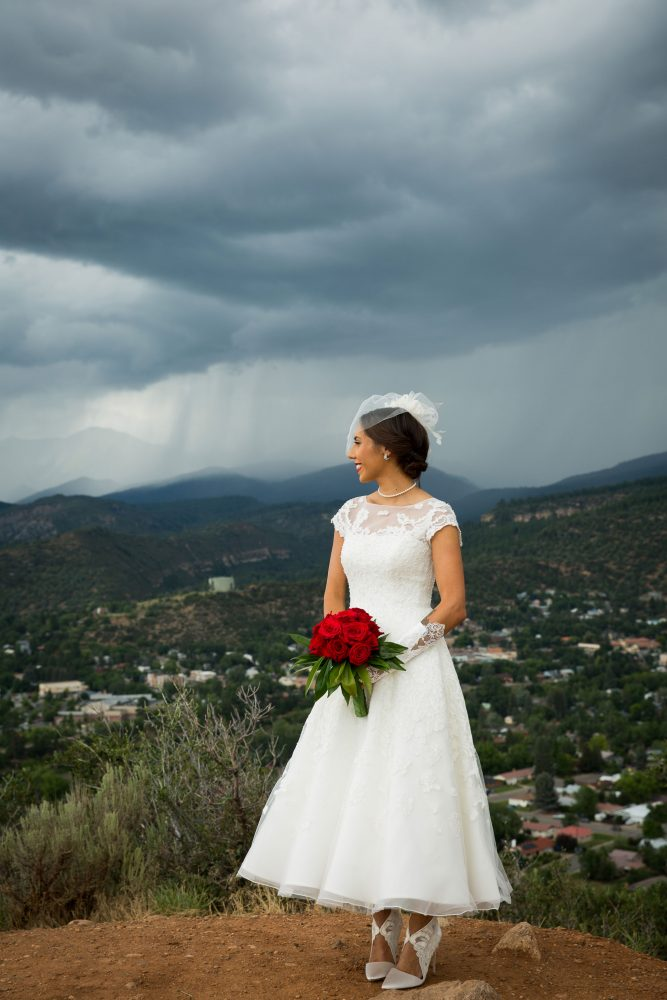 Bride in Durango, Colorado