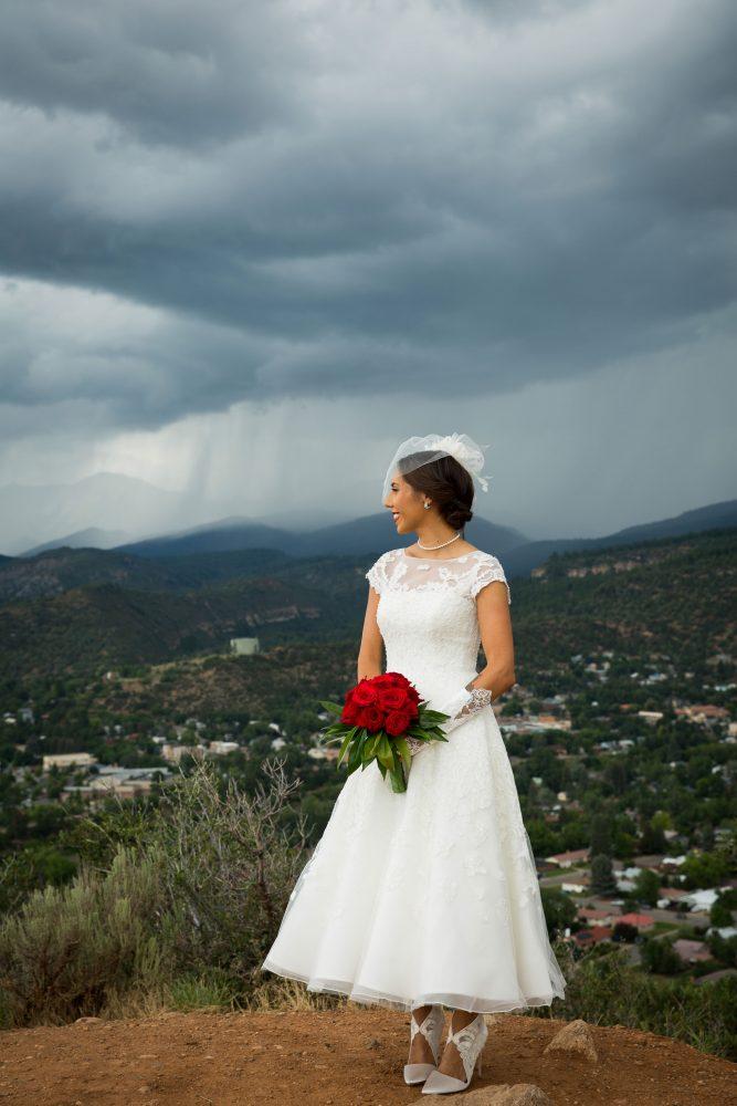 Bride in Durango, Colorado