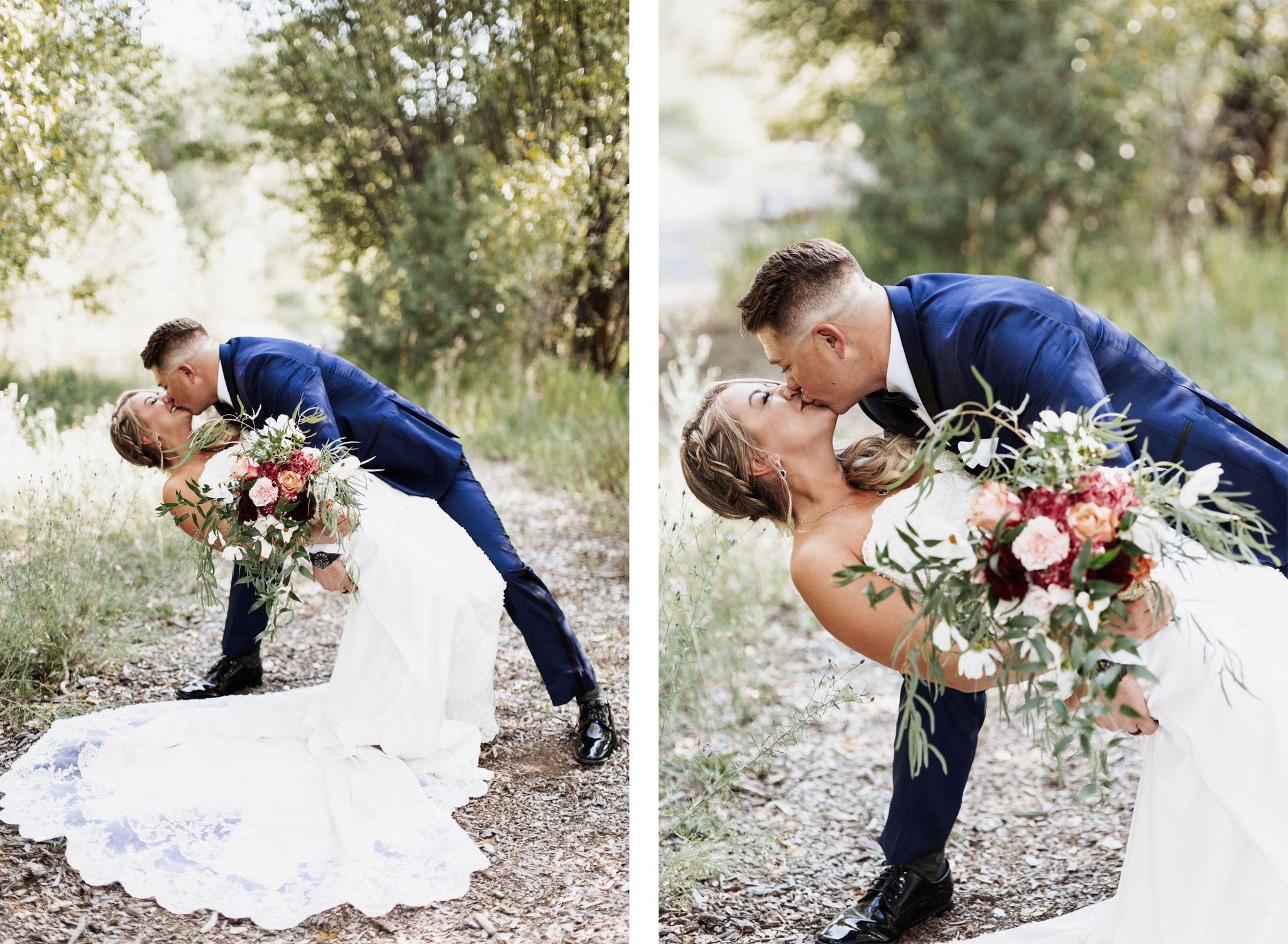The Kiss! A Whimsical Dream Wedding at Ridgewood