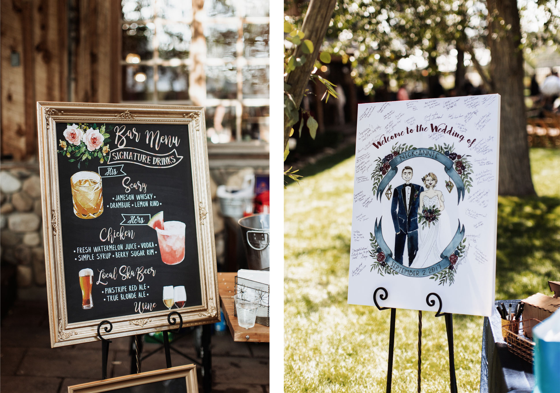 Handdrawn elements - A Whimsical Dream Wedding at Ridgewood